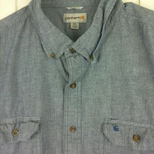 Carhartt Size 2XL-Tall Fort Solid Chambray Work